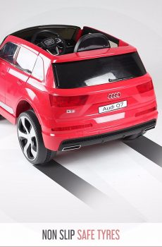 Getbest Audi Q7 Battery Operated Ride On Car For Kids Dual Motor Dual Battery